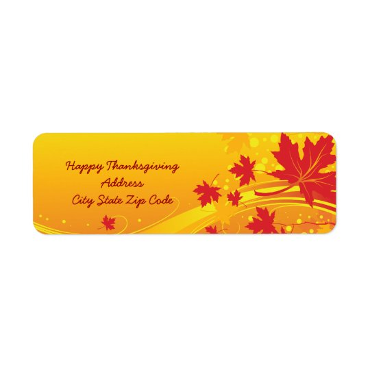 Maple leaves in fall colours custom address label