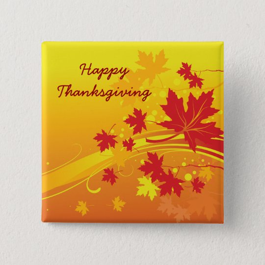 Maple leaves in fall colours custom button