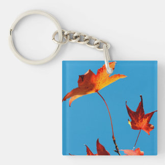 Maple Leaves Key Ring