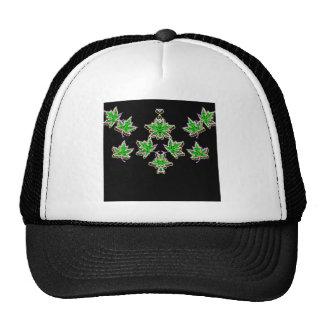 Maple Leaves neon glow Trucker Hat
