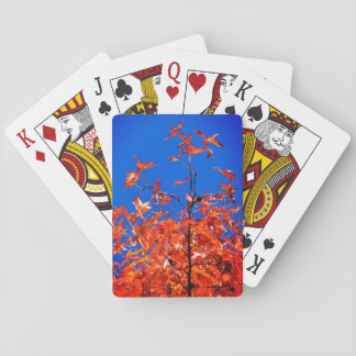 Maple Leaves Playing Cards