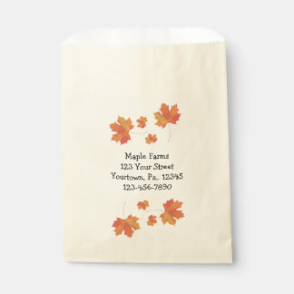 Maple Leaves Product Bag Favour Bags