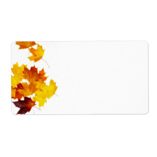 Maple leaves shipping label