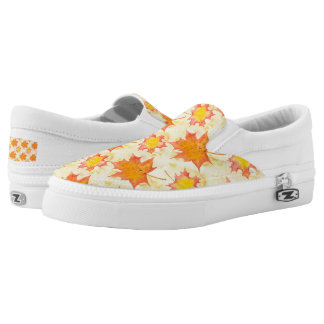 Maple Leaves Slip-On Shoes