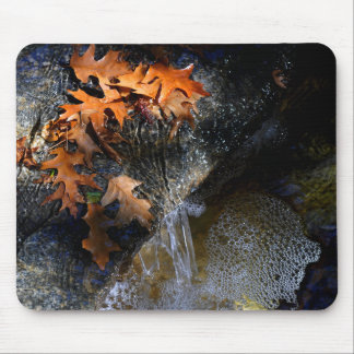 Maple Leaves, Waterfall Mouse Mat