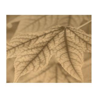Maple Leaves Wood Canvas