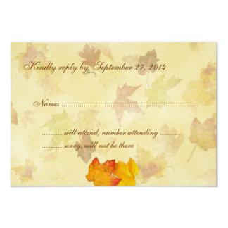 Maple Love Wedding Invitation Reply Cards