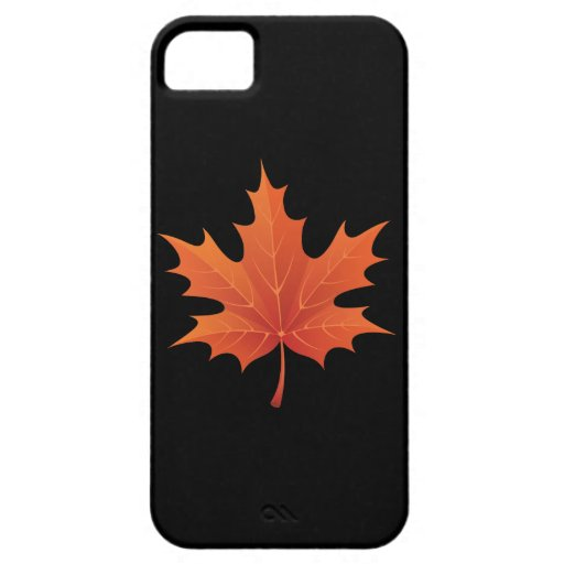 Maple on Pitch Black iPhone 5/5S Covers