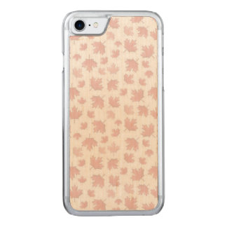 Maple Pattern Carved iPhone 8/7 Case
