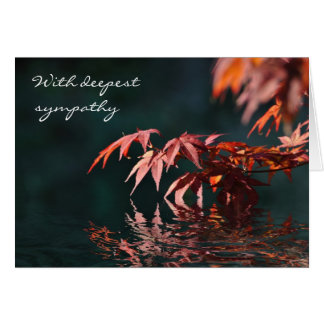 Maple reflections sympathy card