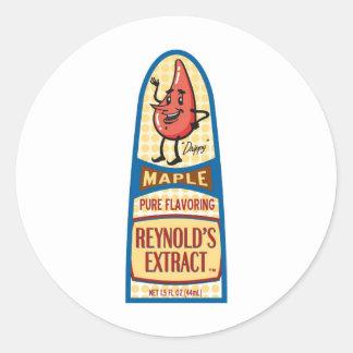 Maple Round Sticker