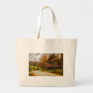 Maple Sugar Shack in  Vermont Fall Large Tote Bag