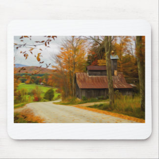 Maple Sugar Shack in  Vermont Fall Mousepad