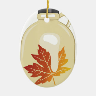 Maple Syrup Ceramic Oval Decoration