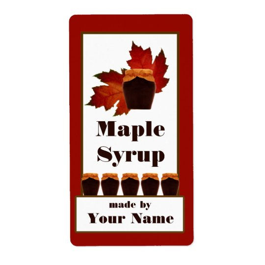 Maple Syrup Jar Label Shipping Label