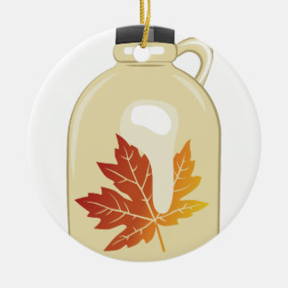 Maple Syrup Round Ceramic Decoration