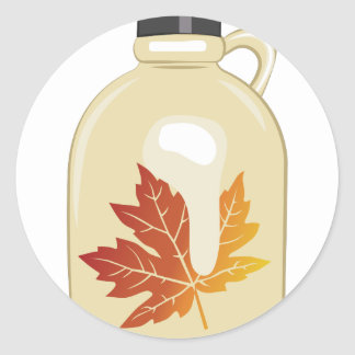 Maple Syrup Round Sticker