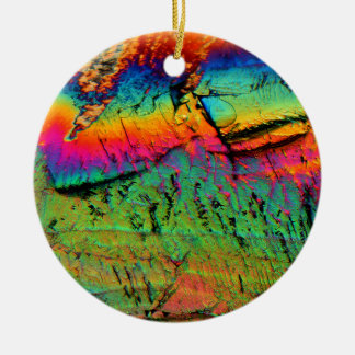 maple syrup under a microscope christmas ornament