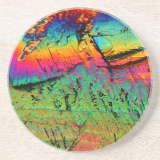 maple syrup under a microscope coaster