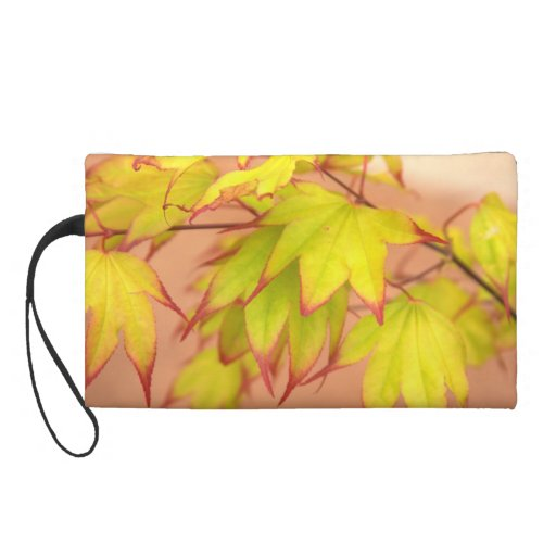 """""""Maple, Tinged with Red"""" Wristlet Purse"""