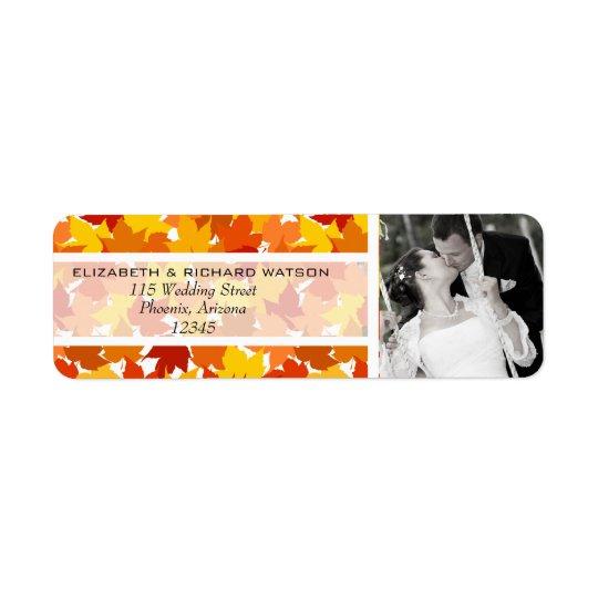 Maple tree Autumn Wedding Address Label
