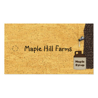 Maple Tree Maple Syrup Hang Tag Pack Of Standard Business Cards