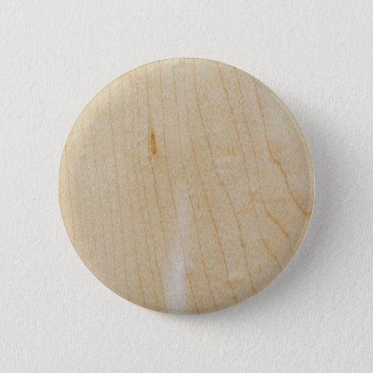 Maple wood 6 cm round badge