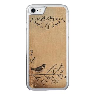 Maple Wood Bird on Tree Branch iPhone Case