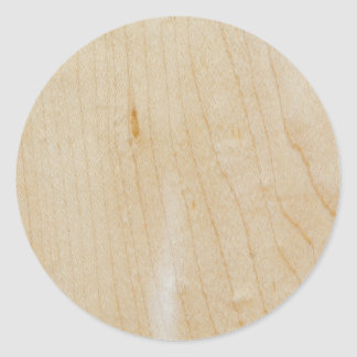 Maple wood classic round sticker
