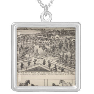Maple Wood Farm, Kansas Silver Plated Necklace