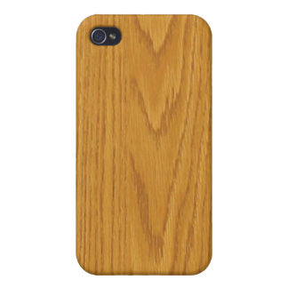 maple wood grain - style iPhone 4/4S cases