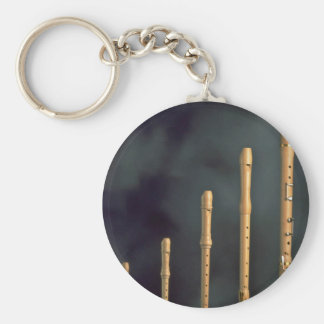 Maple wood recorders, wind instruments basic round button key ring