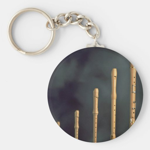 Maple wood recorders, wind instruments keychain