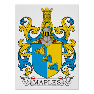 Maples Family Crest Print