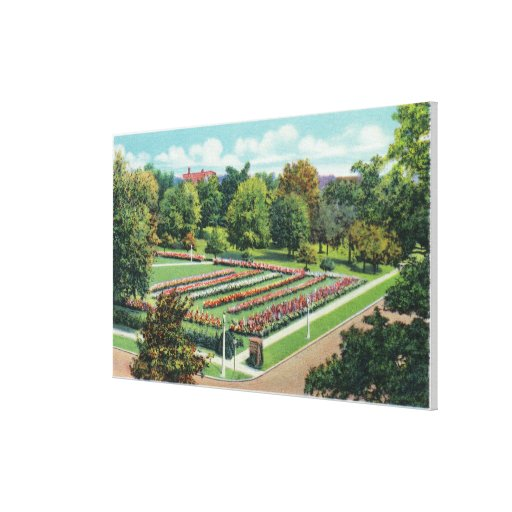 Maplewood Park Rose Garden View Stretched Canvas Prints