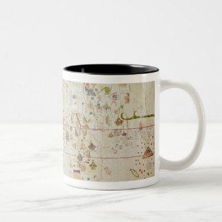 Mappa Mundi, 1502 Two-Tone Coffee Mug