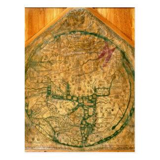 Mappa Mundi, c.1290 Postcard