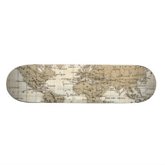Mappemonde 21.3 Cm Mini Skateboard Deck