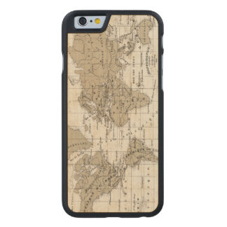 Mappemonde Carved Maple iPhone 6 Case