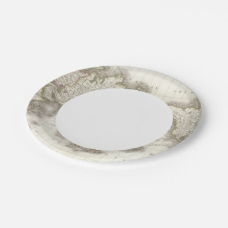 Mappemonde - Globe map Paper Plate