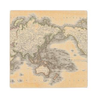Mappemonde - Globe map Wood Coaster