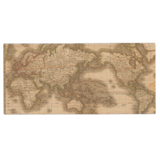Mappemonde - Globe map Wood USB Flash Drive