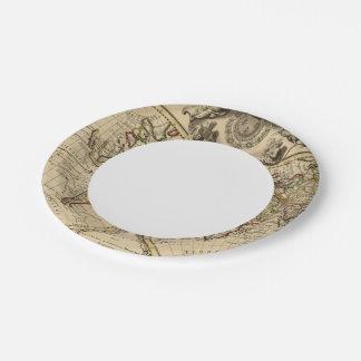 Mappemonde Paper Plate