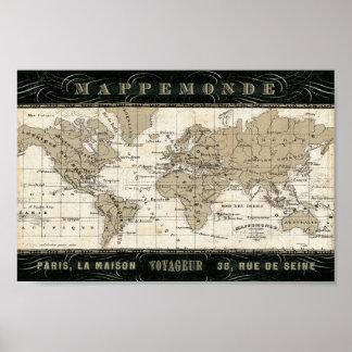 Mappemonde Poster