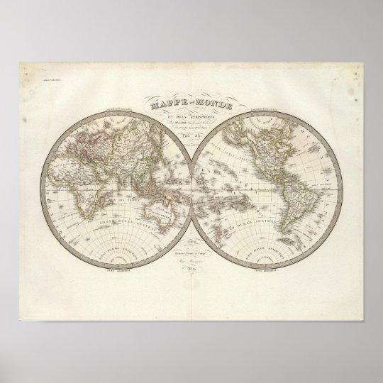 Mappemonde - World Map Poster