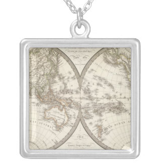 Mappemonde - World Map Silver Plated Necklace