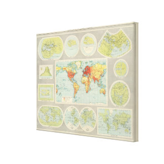 Mapping of the world canvas print
