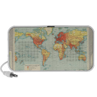 Mapping of the world iPhone speakers