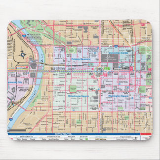 Mapping The City of Brotherly Love Mouse Mat
