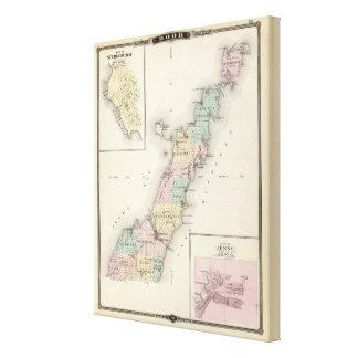 Maps of Door County, Sturgeon Bay and Jenny Canvas Print